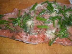 Маринование лосося с лимоном и укропом